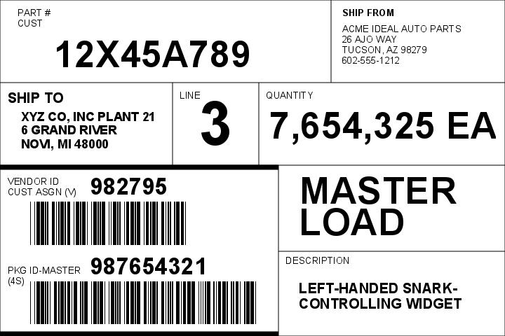 AIAG B-10 Supplier Master
