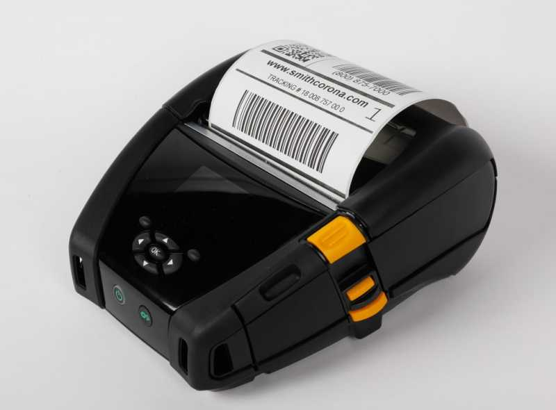 Zebra ZQ630 thermal mobile printer with a direct thermal label printed